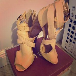 Beige with tan color heel